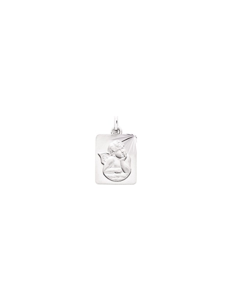 Médaille Ange Or Blanc 18K