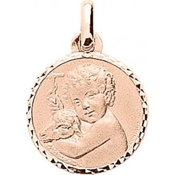Médaille Ange Or Rose 18K