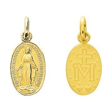 Médaille Vierge Or Jaune 18K