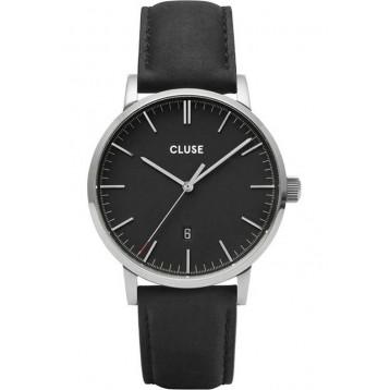 Cluse Aravis Nato Leather Black Black/Black