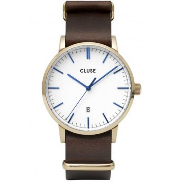 Cluse Aravis Nato Leather Black Black/Black