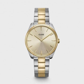 Cluse Féroce Steel Gold White