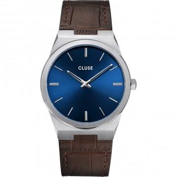 Cluse Vigoureux Steel Silver Petrol Blue