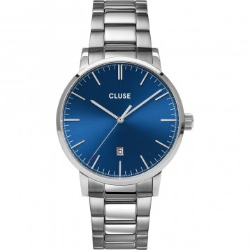 Cluse Aravis Mesh Silver Dark Blue/Silver