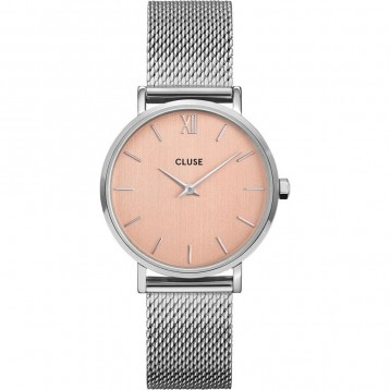Cluse Minuit Mesh Silver Rose Gold