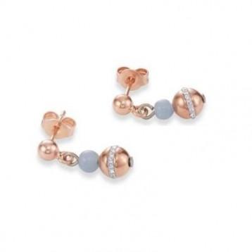 Boucles d'oreilles Coeur de Lion en pierres naturelles et cristaux sertis en pavé 4992210720