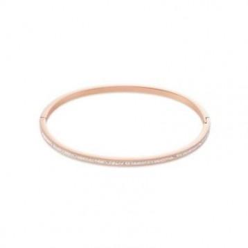 Bracelet Jonc Coeur de Lion avec pavé de cristaux blancs swaroski 0229331800