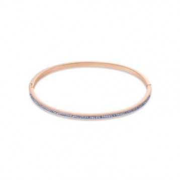 Bracelet Jonc Coeur de Lion avec pavé de cristaux bleus swaroski 0229330720