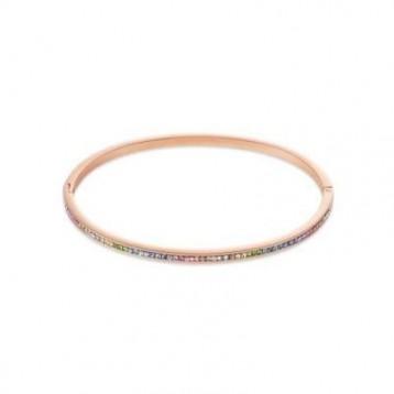 Bracelet Jonc Coeur de Lion avec pavé de cristaux multicolores swaroski 0229331800