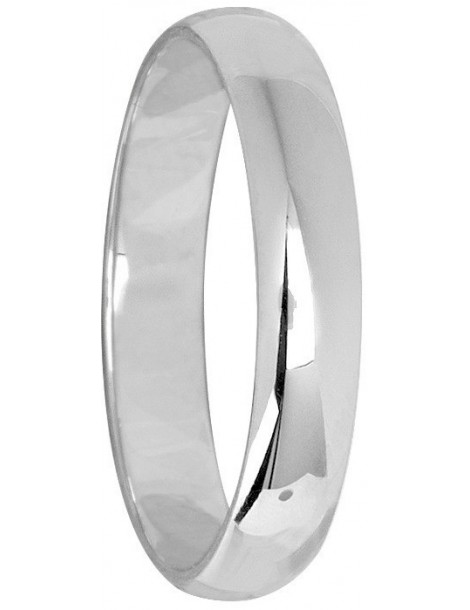 Alliance Or Blanc 18K Demi-Jonc Léger 2mm