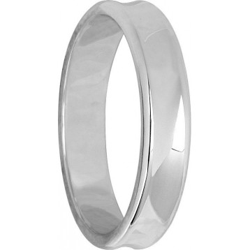 Alliance Or Blanc 18K Concave 4mm