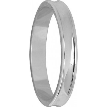 Alliance Or Blanc 9K Concave 3mm