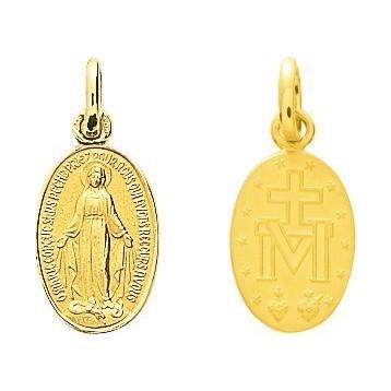 Médaille Vierge Or Jaune 9K