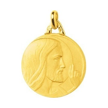 Médaille Christ Or Jaune 9K