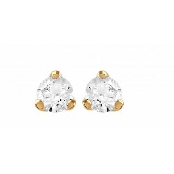 Boucles d'oreilles Diamant 0.20ct or rose 18k