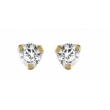 Boucles d'oreilles Diamant 0.30ct or jaune 18k