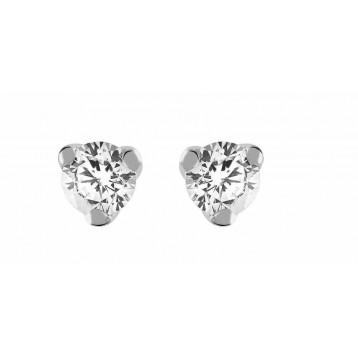 Boucles d'oreilles Diamant 0.30ct or gris 18k