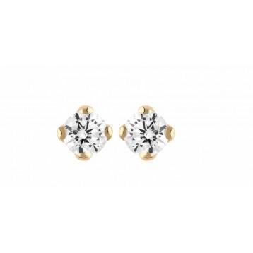 Boucles d'oreilles Diamant 0.05ct or rose 18k