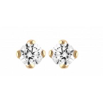 Boucles d'oreilles Diamant 0.30ct or rose 18k