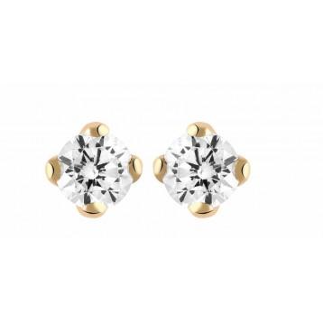 Boucles d'oreilles Diamant 0.40ct or rose 18k