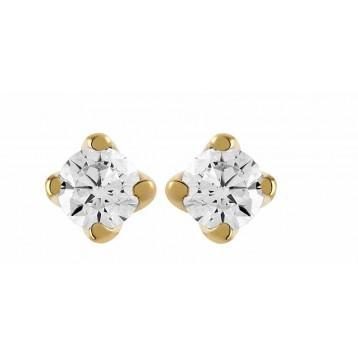 Boucles d'oreilles Diamant 0.50ct or jaune 18k
