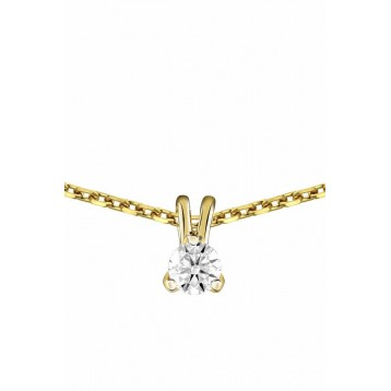 Collier Diamant 0.10ct or jaune 18k