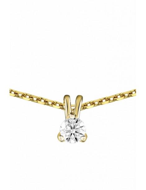Collier Diamant 0.10ct or jaune 18k