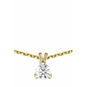 Collier Diamant 0.25ct or jaune 18k