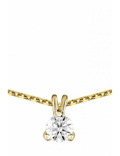 Collier Diamant 0.25ct or jaune 18k