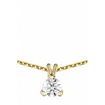 Collier Diamant 0.30ct or jaune 18k