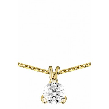 Collier Diamant 0.50ct or jaune 18k