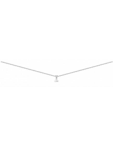 Collier Diamant 0.10ct or gris 18k