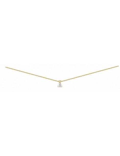 Collier Diamant 0.30ct or jaune 18k