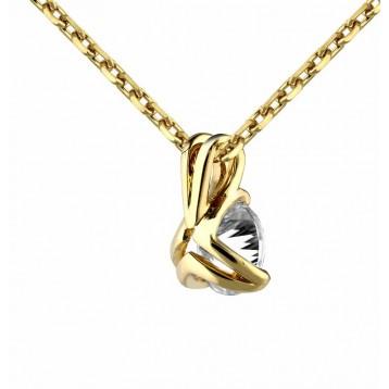 Collier Diamant 0.40ct or jaune 18k