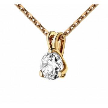 Collier Diamant 0.05ct or rose 18k