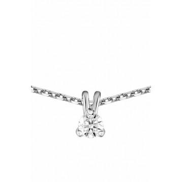 Collier Diamant 0.10ct or gris 9K