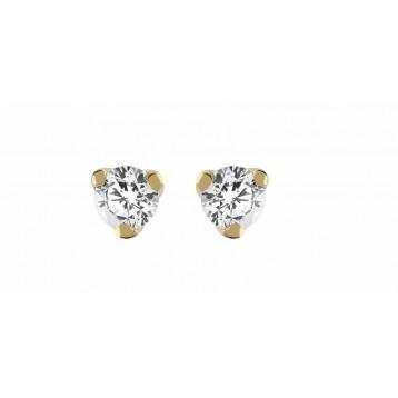 Boucles d'oreilles Diamant 0.05ct or jaune 9K