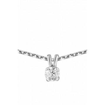 Collier Diamant 0.05ct or gris 18k
