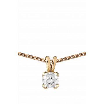 Collier Diamant 0.10ct or...