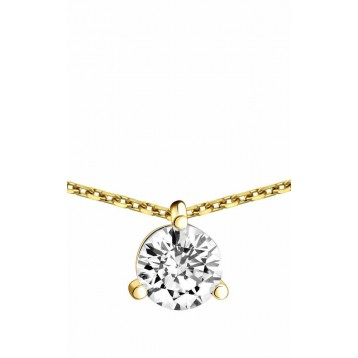 Collier Diamant 1,00ct or jaune 18k