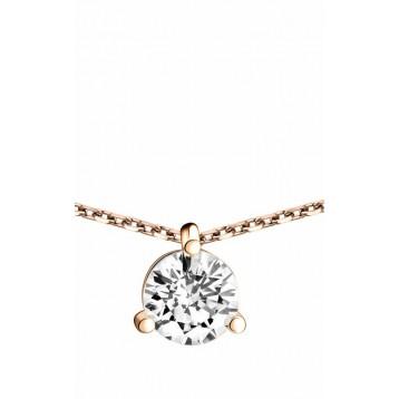 Collier Diamant 1,00ct or rose 18k