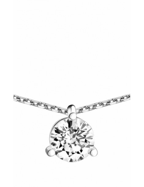 Collier Diamant 1,00ct or gris 18k