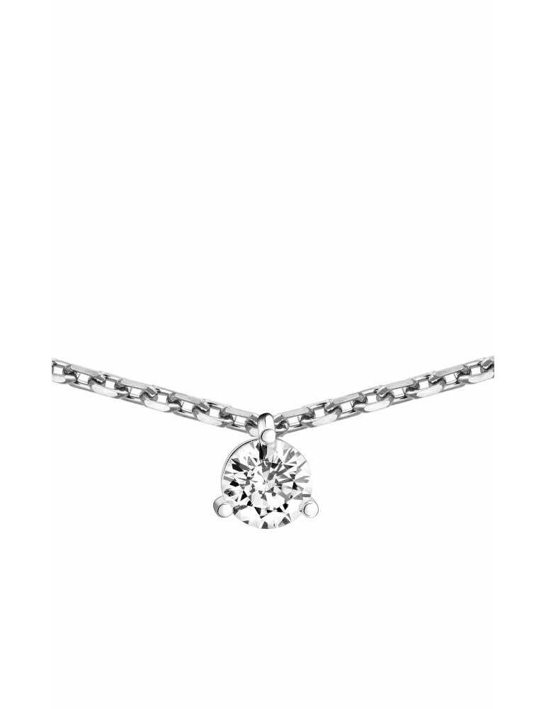 Collier Diamant 0.15ct or gris 18k