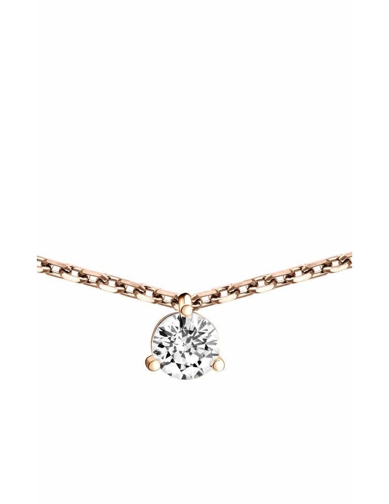 Collier Diamant 0.20ct or rose 18k