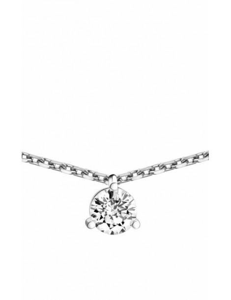 Collier Diamant 0.30ct or gris 18k