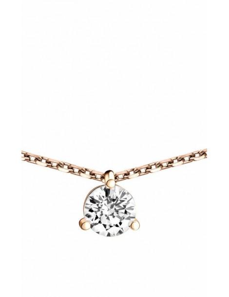 Collier Diamant 0.40ct or rose 18k