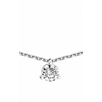 Collier Diamant 0.40ct or gris 18k