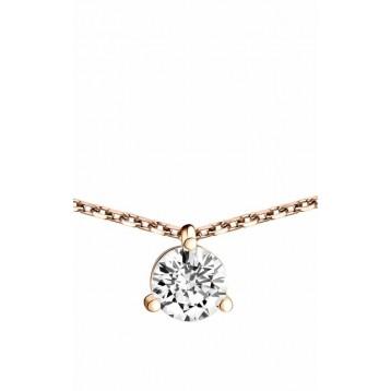 Collier Diamant 0.50ct or rose 18k