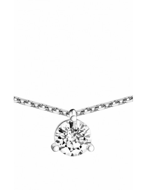 Collier Diamant 0.50ct or gris 18k
