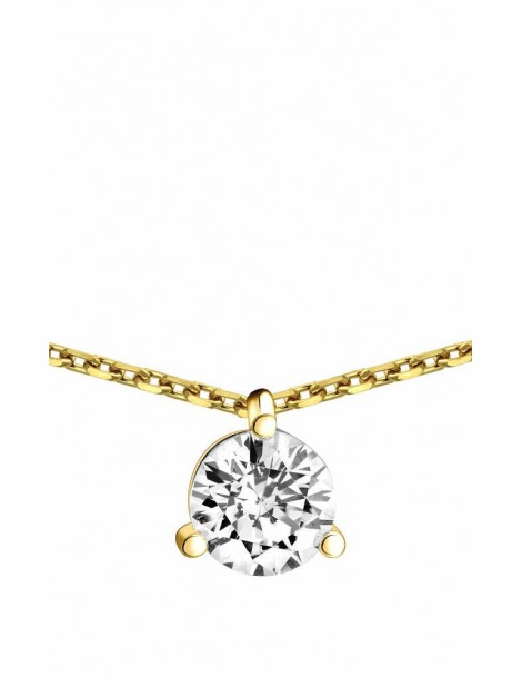 Collier Diamant 0.70ct or jaune 18k
